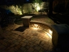 backyard paver bench side view