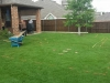 Before-custom-paver-patio-with-stone-flowerbed-borders-Allen-TX