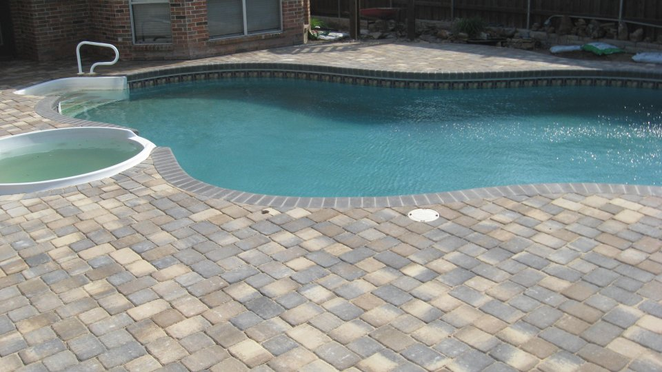 Pavers before and after legacy custom pavers for Best pavers for pool deck