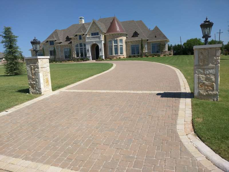 Cambridge Cobble 3 Piece In Fossil Beige With Hill Country Border