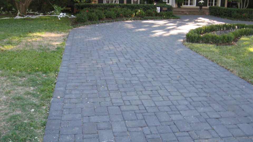 Unique Driveway Pavers in Cambridge Cobble 3 piece in Charcoal After Photos - Best of driveway paving stones Model