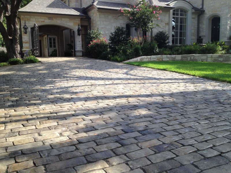 Paver driveway dallas texas in old world paver