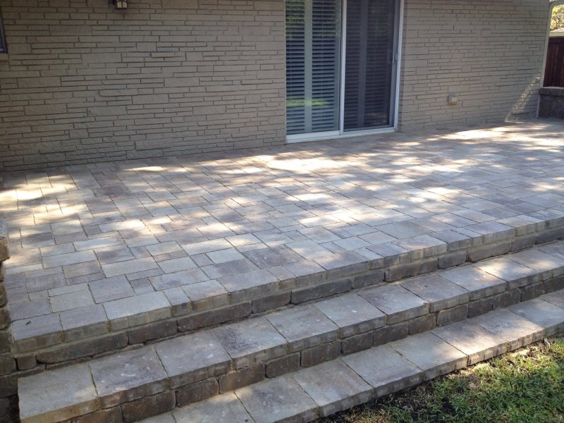 Patio Pavers Stairs - Modern Patio & Outdoor