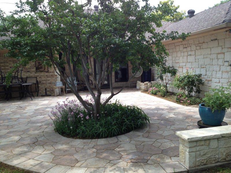 backyard patio in mega arbel pavers richardson texas