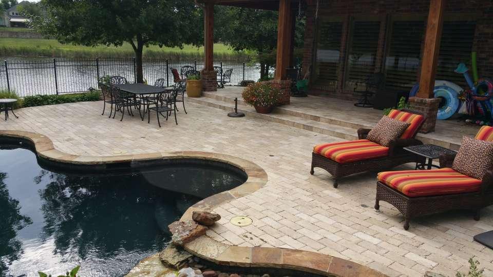 Travertine Pool Deck Dallas Texas
