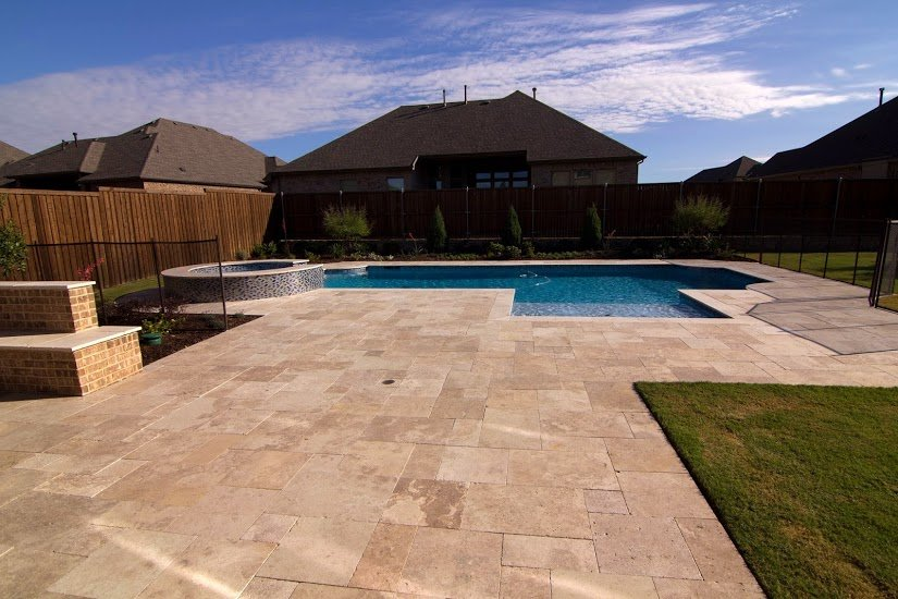 travertine pool decks dallas tx