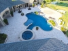 Travertine Pool Deck Dallas TX - Aerial