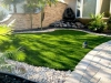 synthetic grass rock fountain