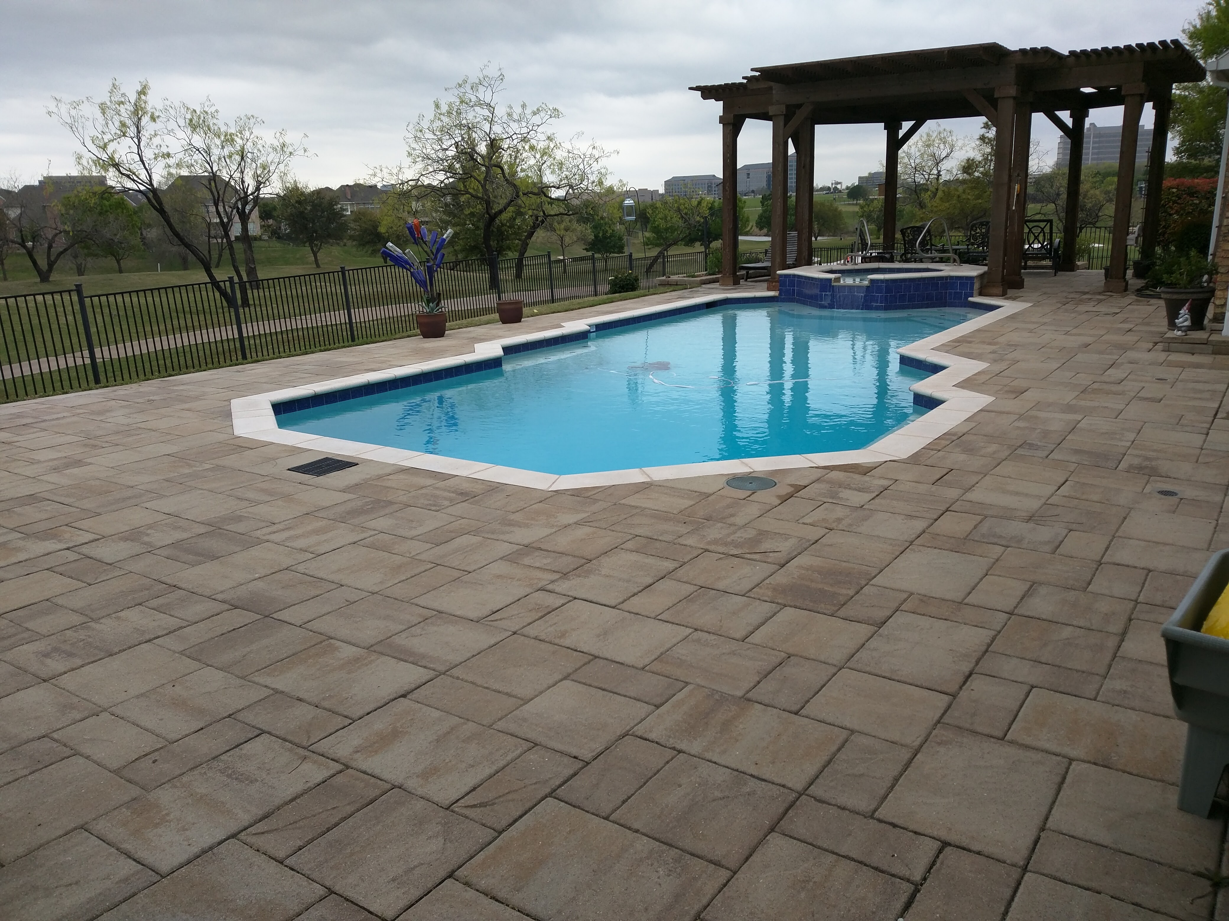 Backfilling Paver Pool Deck Pool Decks  Legacy Custom Pavers