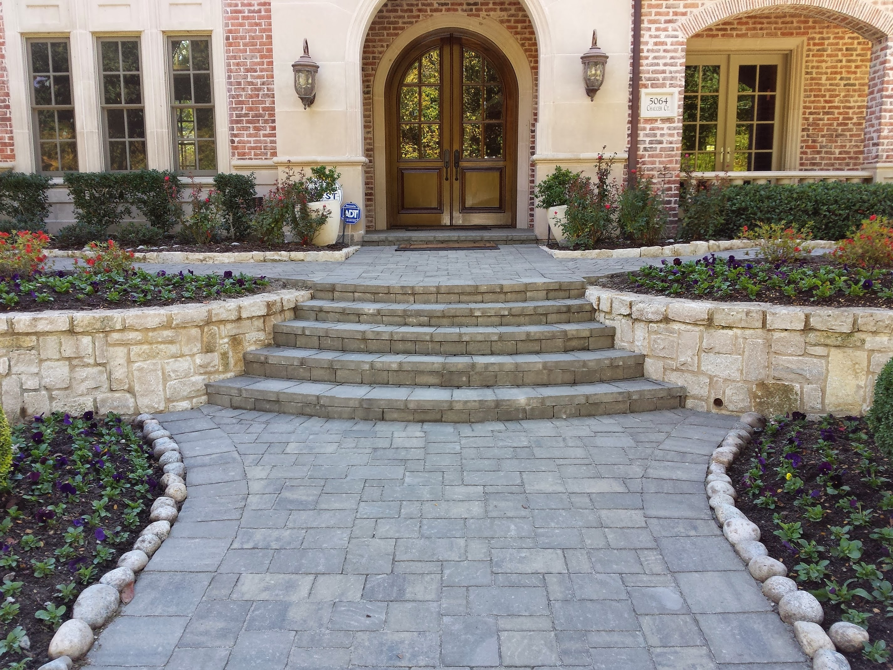 Custom paver walkway in Plano Texas