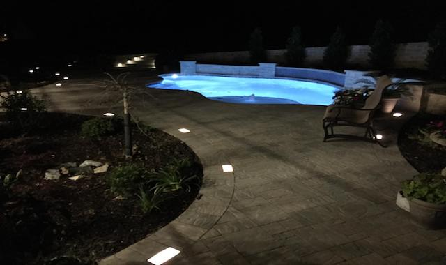 Landscape Lighting on Pool Deck